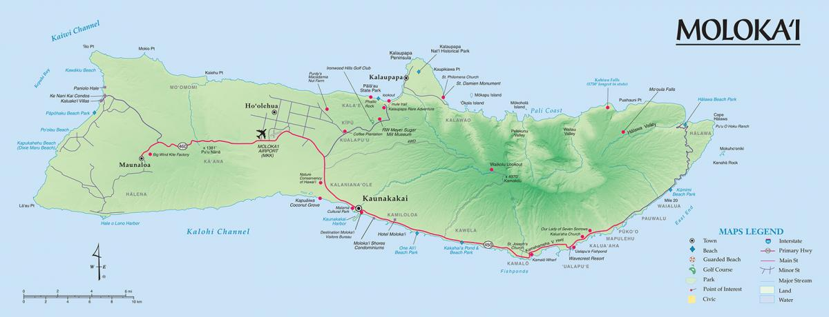 molokai maps go hawaii