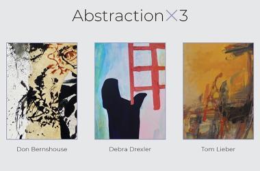 Abstractionx3 features three Hawai'i based artists: Don Bernshouse, Debra Drexler, and Tom Lieber