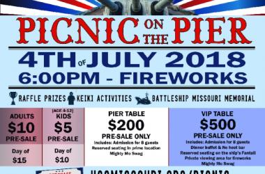 CELEBRATE THE 4TH OF JULY WITH A PICNIC ON THE PIER ABOARD THE MIGHTY MO