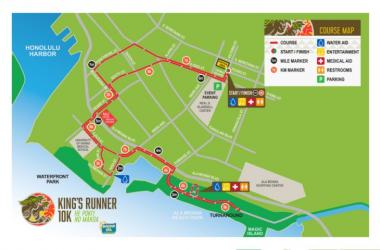 King's Runner Course Map