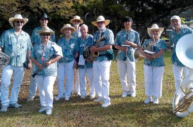 Members of the West Hawai'i County Band