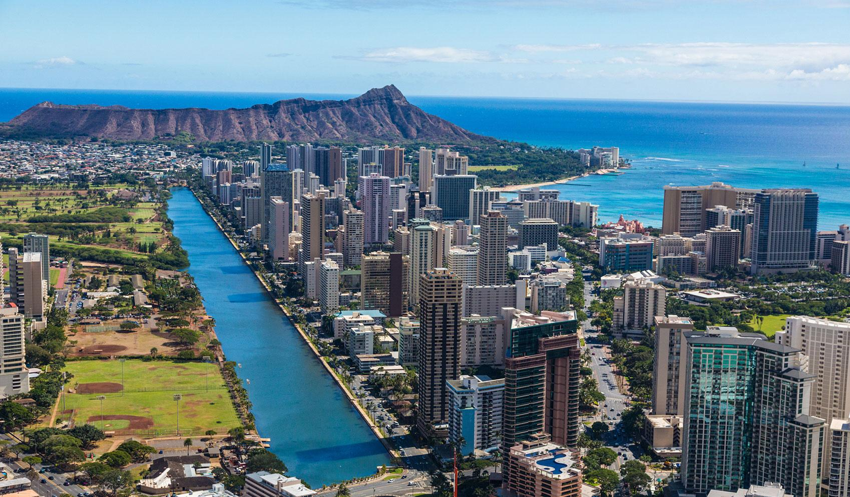 Aerial view of Honolulu