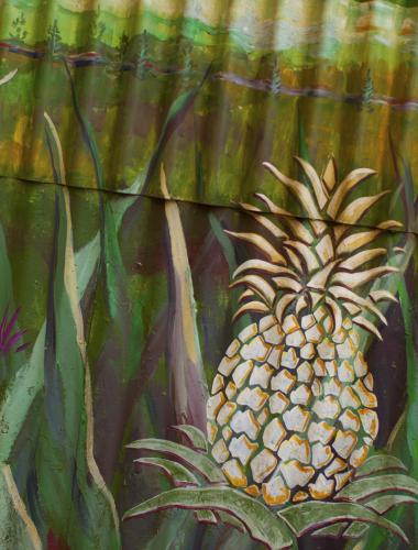 A painting of a pineapple
