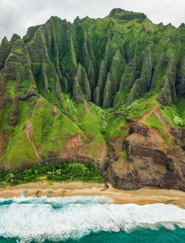 The Napali Coast on the Hawaiian island of Kauai