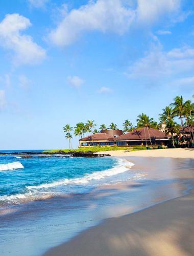 Resort on the beach in Kauai