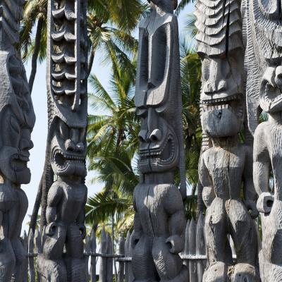 プウホヌア・オ・ホナウナウ国立公園  (ハワイ島)