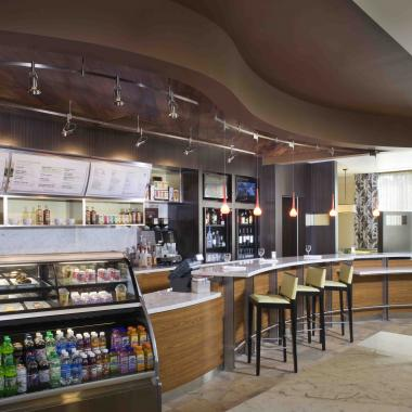 The Bistro - Your food and beverage destination for refreshing breakfast choices in the morning, and a variety of dinner, beer and wine options in the evening. The Bistro also offers specialty beverages made with Starbucks® coffee to help you get a jump on the day.