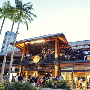 Hard Rock Cafe Honolulu Exterior View - Day