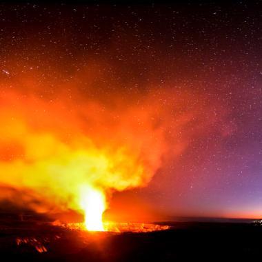 Evening Volcano Explorer