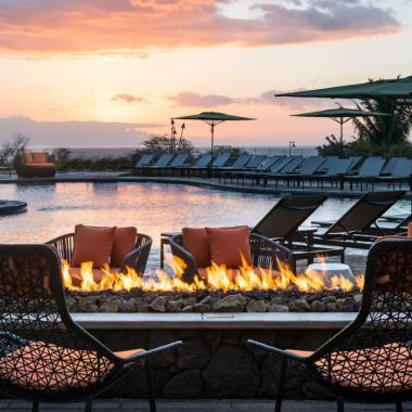 Fire Pit Sunset