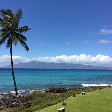 Panoramic Views of 2 islands from our lanai...Aah, the beauty of Maui. Relax & Enjoy!