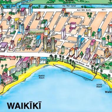 Waikiki Map Snapshot