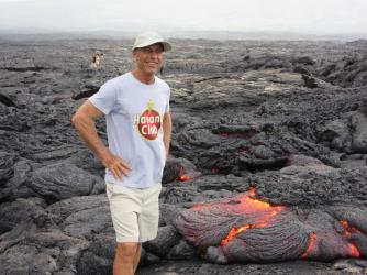 Bike and Hike to Active Lava Surface Flows