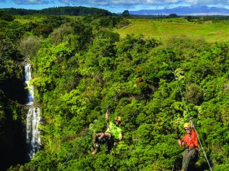 New Waterfall Zipline at Botanical World