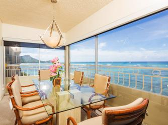 Lanai with Dining Table