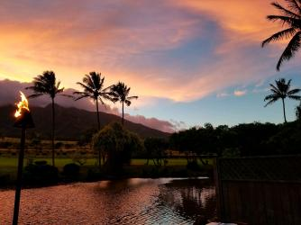 Sunset at Maui Tropical Plantation
