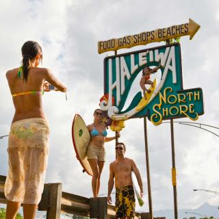 Oahu's North Shore is a popular surf destination