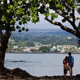 Scenic view of the Hilo coast on the island of Hawaii