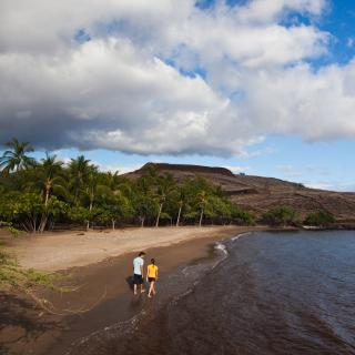 Hapuna Beach State Park in Kohala on the island of Hawaii